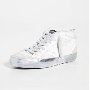 NEW Golden Goose Mid Star Snow Sparkle Sneakers